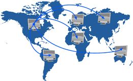 мир сети Стоковое Изображение RF