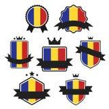 Мир сигнализирует серию Флаг вектора Румынии Стоковые Изображения