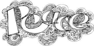 МИР сделал эскиз к doodles Стоковое фото RF