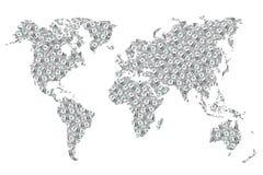 мир текстуры зерна кредитки Стоковое Изображение