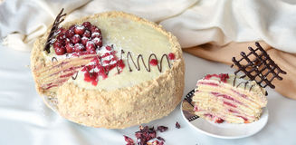 Мир торта на сладостное утро Стоковое Изображение RF
