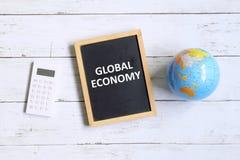 мир умозрения изображения схематической экономии кризиса гловальный Стоковые Изображения RF