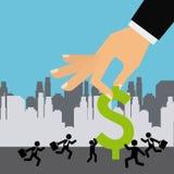 мир умозрения изображения схематической экономии кризиса гловальный Стоковые Изображения