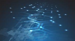 Мир цифровой технологии Концепция дела виртуальная Backg вектора Стоковое фото RF