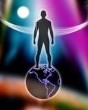 мир человека верхний Стоковое Фото