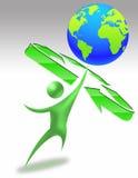 мир экологичности 01 иллюстрация вектора