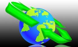 мир экологичности 04 иллюстрация вектора