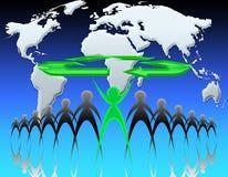 мир экологичности 05 иллюстрация вектора