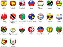 мир 07 икон флага Стоковая Фотография RF