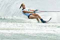 мир 2009 женщин waterski слалома putrajaya чашки Стоковая Фотография RF
