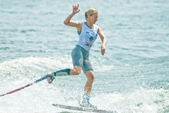 мир 2009 женщин waterski shortboard putrajaya чашки стоковые фото