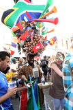 мир 2010 улицы fifa притяжки чашки плащи-накидк окончательный длинний Стоковые Фото