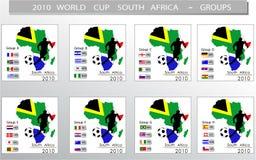 мир 2010 чашки Африки южный иллюстрация вектора
