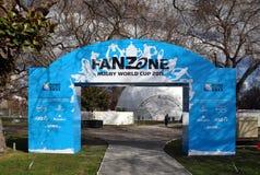 мир 2011 рэгби fanzone чашки christchurch стоковые изображения