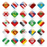 мир 4 икон флага Стоковые Изображения