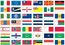 мир 5 8 флагов Стоковое Изображение RF