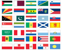 мир 6 8 флагов Стоковая Фотография RF