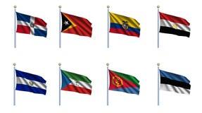 мир 7 флагов установленный бесплатная иллюстрация