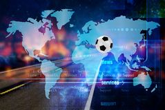 Мир footbal 2022 чемпионата Путешествия стоковое изображение rf