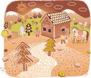 мир gingerbread Стоковые Фотографии RF