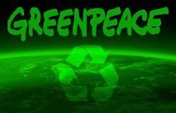 мир greenpeace глобуса Стоковые Фотографии RF