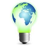 мир lightbulb иллюстрация вектора