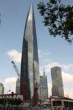 мир shanghai здания разбивочный финансовохозяйственный Стоковые Изображения