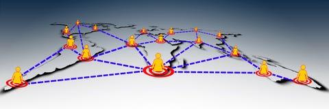 мир social глобальной вычислительной сети Стоковые Фотографии RF