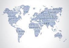 мир social сети 2 Стоковое Изображение