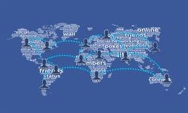 мир social 3 сетей Стоковое Фото
