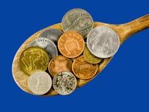 мир spoonful экономии крупного плана наваливая Стоковая Фотография RF