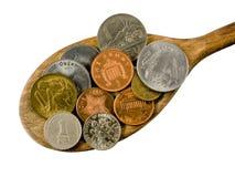 мир spoonful экономии крупного плана наваливая Стоковые Фотографии RF
