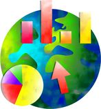 мир stats Стоковые Фото