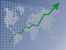 мир upawards диаграммы Стоковое фото RF
