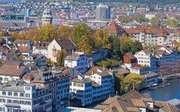 мир zurich башни st peter s стороны часов городского пейзажа города церков самый большой швейцарский Стоковые Изображения RF