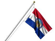 Миссури изолированная флагом Стоковая Фотография RF