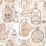 Мистик, волшебство, предпосылка Вероисповедание и оккультизм с esote бесплатная иллюстрация