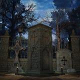мистик кладбища бесплатная иллюстрация