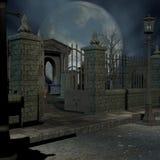 мистик кладбища иллюстрация вектора