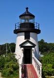 Мистик, CT: Реплика 1866 маяка пункта Brant стоковые изображения rf