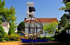 Мистик, CT: Церковь Greenmanvill стоковое изображение rf