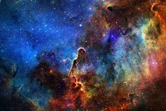 Мистическая гора в космическом пространстве Элементы этого изображения поставленные NASA стоковое фото rf