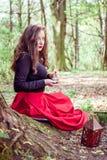 Мистическая женщина ведьмы Стоковая Фотография