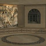мистическая ритуальная комната бесплатная иллюстрация