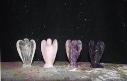 Мистические кристаллические ангелы Стоковые Фото