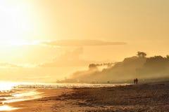Мистический ландшафт на восходе солнца Стоковые Изображения