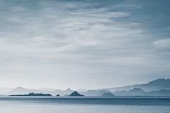 мистический заход солнца Стоковое Изображение RF