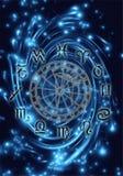 мистический зодиак иллюстрация штока