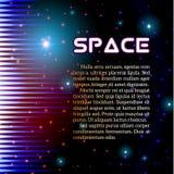 Мистический сияющий ядровый знак с sparkles Стоковые Фото