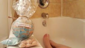 Мистическое bathbomb древесин с платами ванны Стоковые Изображения